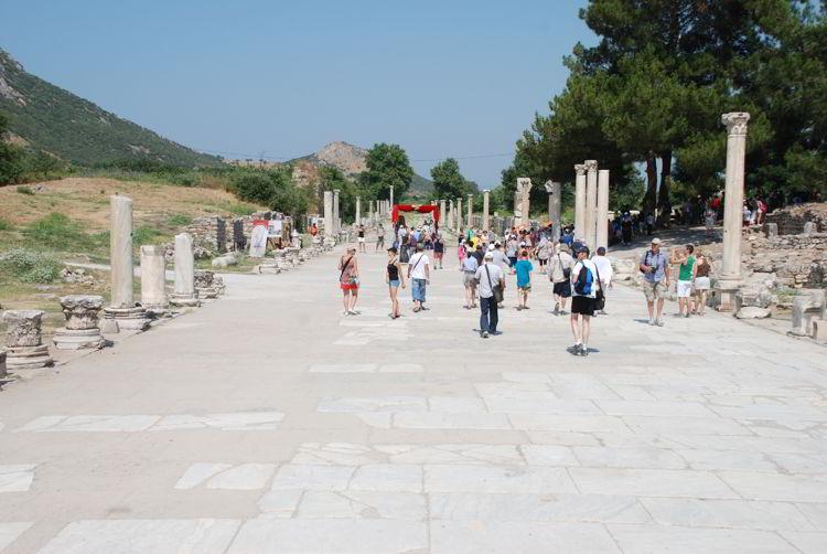 An image of a walkway in Ephesus, Turkey.