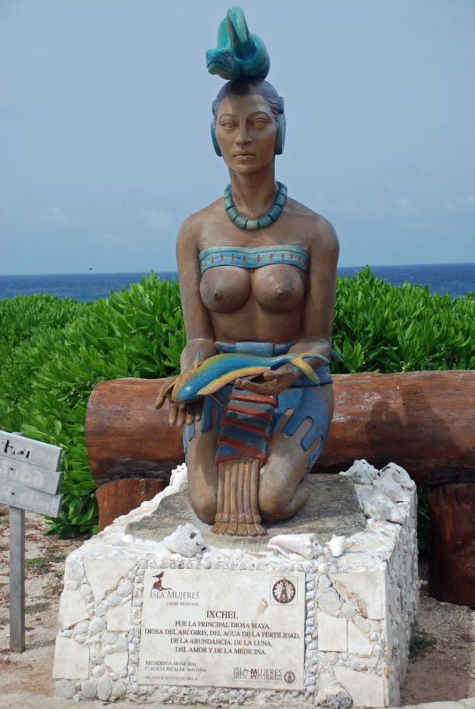 An image of a sculpture in the Punta Sur Sculpture Garden on Isla Mujeres.