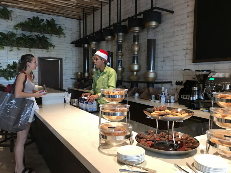 An image of the coffee bar at the Lopesan Costa Bavaro in Punta Cana, Dominican Republic.