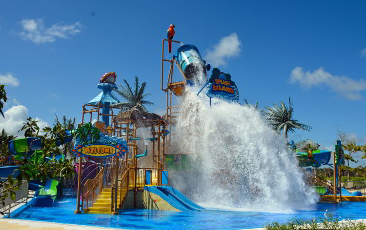 An image of the water park at the Lopesan Costa Bavaro in Punta Cana, Dominican Republic