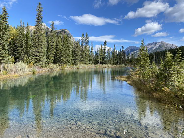 An image of Mount Lorette Ponds - Best easy hikes in Kananaskis, Alberta.