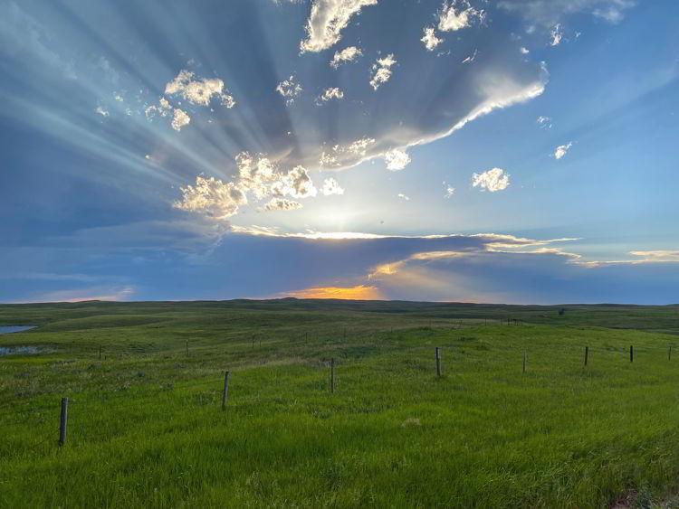 An image of a sunset near Medicine Hat, Alberta, Canada.