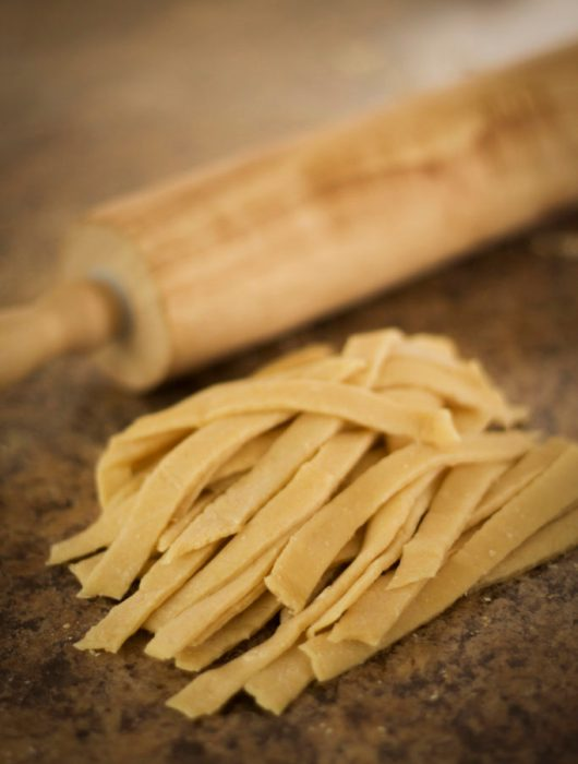 Easy Homemade Pasta - These noodles are so EASY to make! Plus they only need TWO ingredients! | wanderzestblog.com