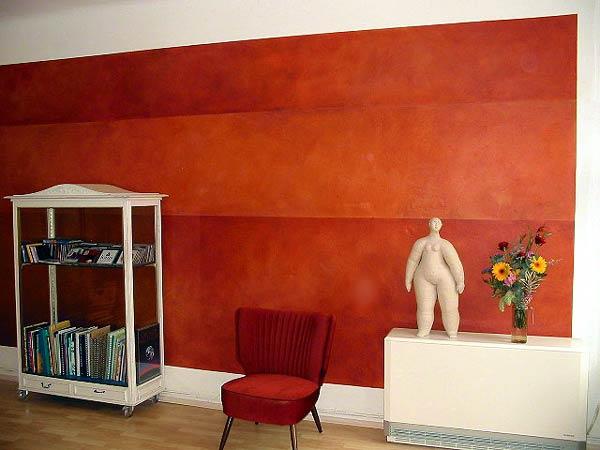 Dekorative Gestaltung von Wohnraum und Wohnzimmer  Wandgestaltung Berlin