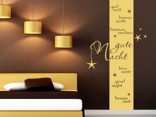 Wandgestaltung des Schlafzimmers  Wandgestaltungcom