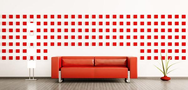 Wandgestaltung selber machen geometrische Muster an die Wand