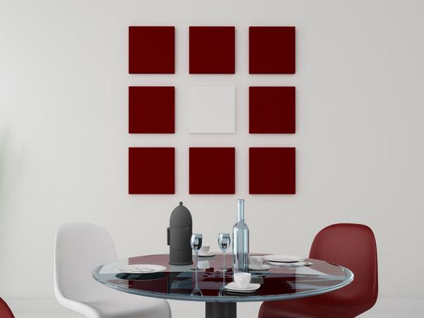 Wandgestaltung Quadrate Beispiele QPLRX. Wandfarbe Ideen Quadrat ...