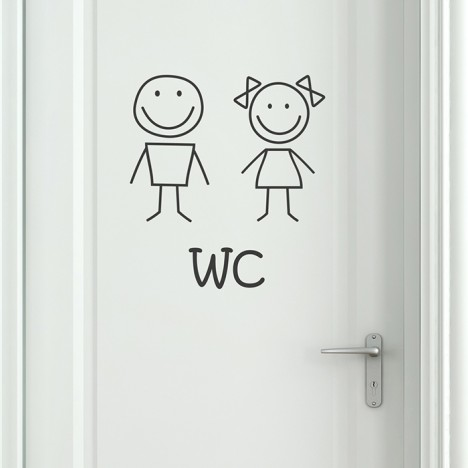 Wandtattoo WC und Toilettensticker Smiley