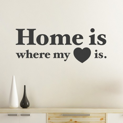 Wandtattoo Home is where my heart is