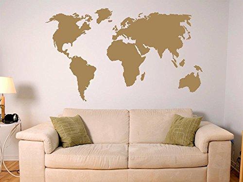 Wandtattoo Weltkarte gnstig kaufen