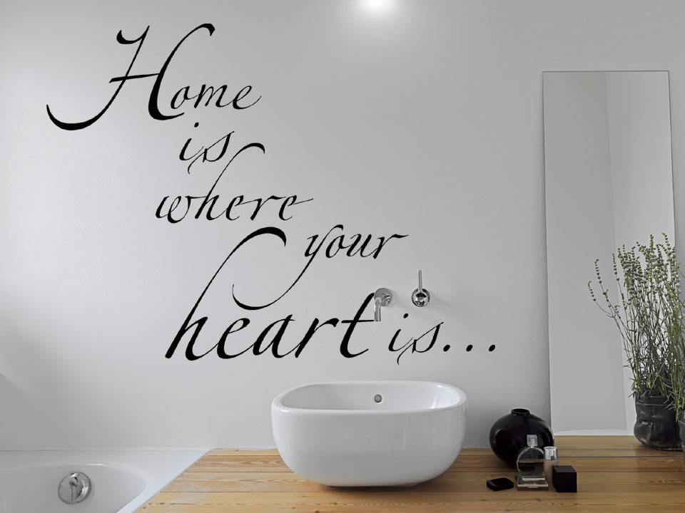 Wandtattoo Home is where your heart is  Wandtattoocom
