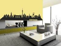 Wandtattoo Dortmund Skyline mit Stadion und Sehenswrdigkeiten