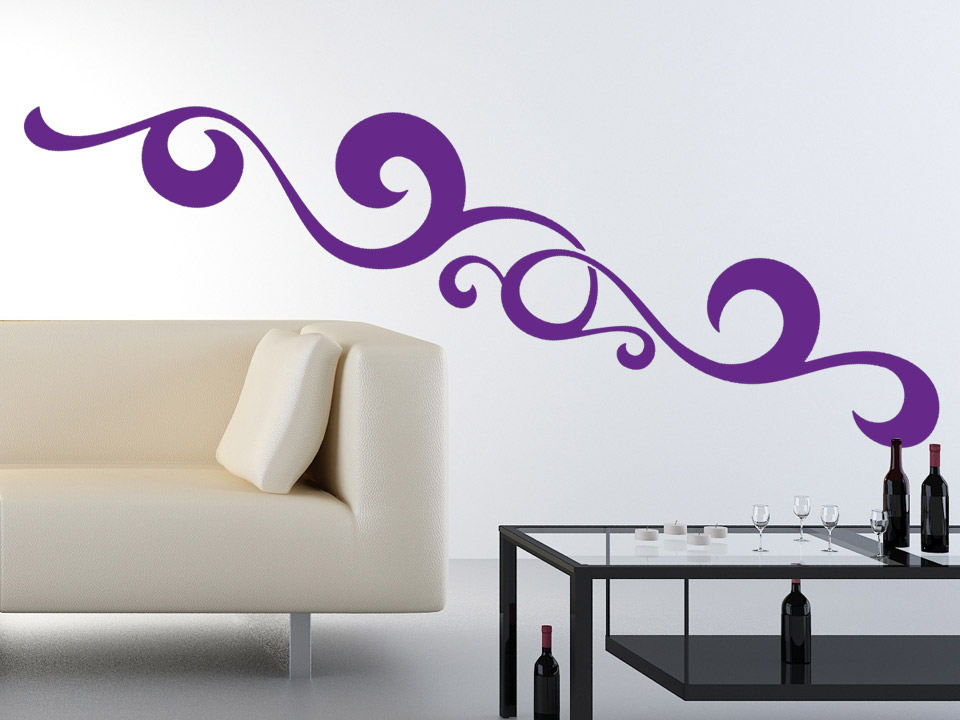 Wandtattoo Wellen Dekor als Wandgestaltungsidee  Wandtattoocom