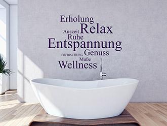 Wellness Wandtattoos fr die eigene Wellness Oase  WANDTATTOODE