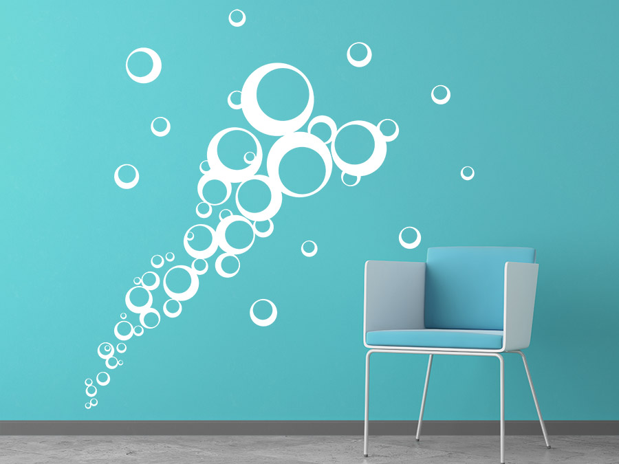 Wandtattoo um Spiegel  Ideen mit Wandtattoos  Spiegeln