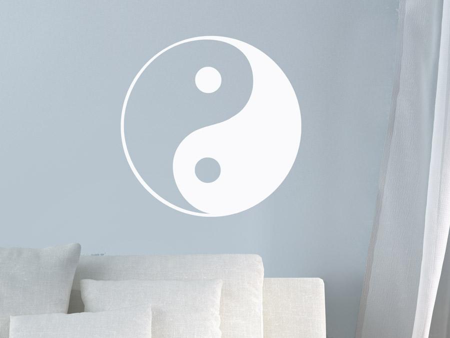 Wandtattoo Chinesisch Yin  Yang Zeichen  WANDTATTOODE