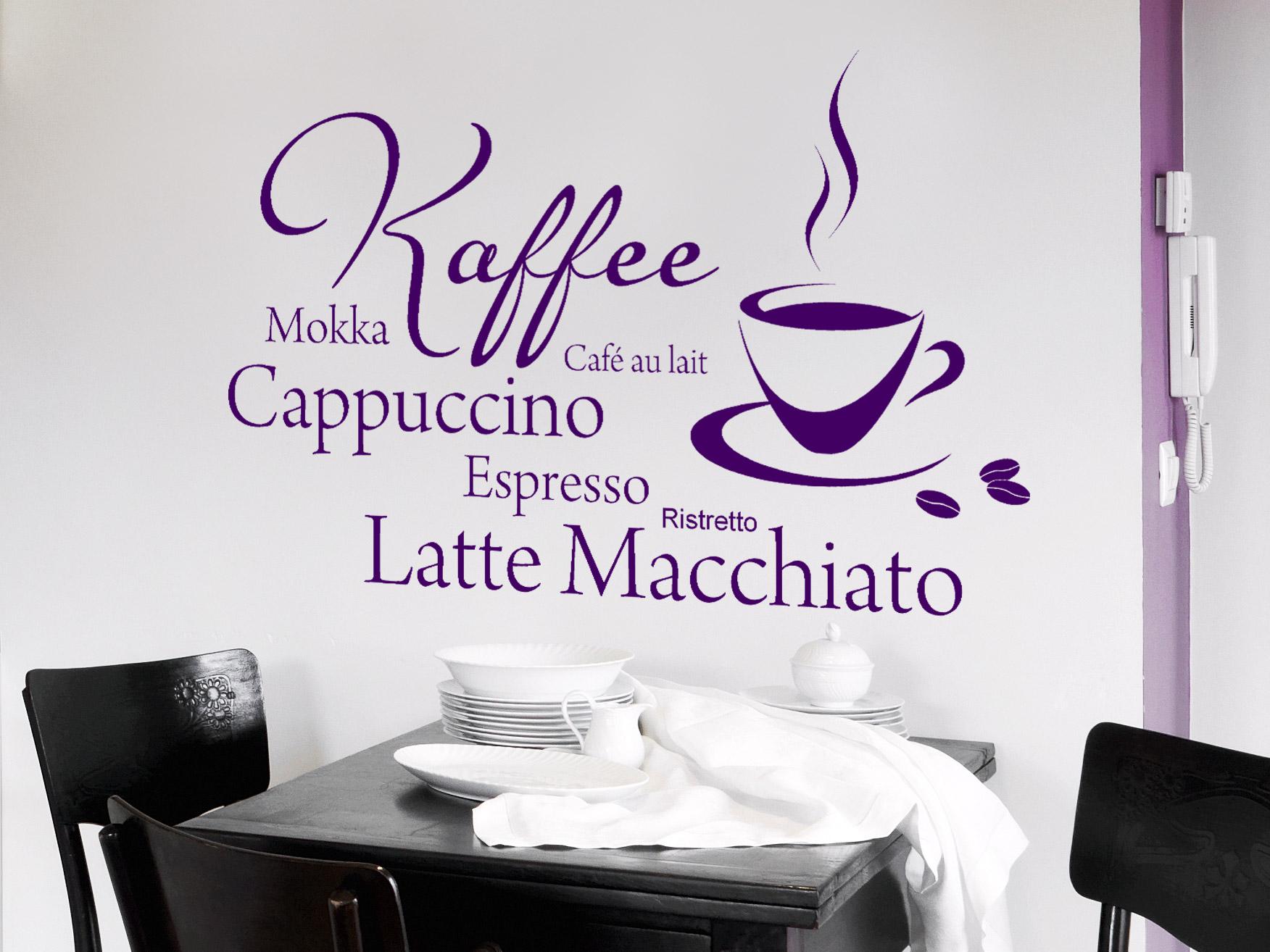 Wandtattoo Caf Time mit Kaffeetasse  WANDTATTOODE