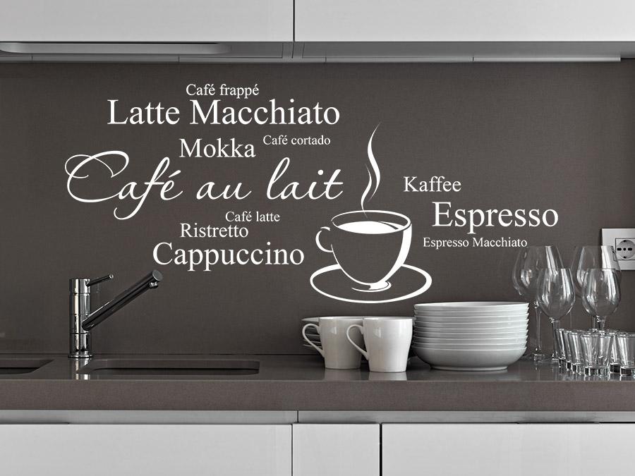 Wandtattoo Kaffee Variationen von Wandtattoode