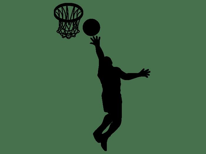 Wandtattoo Basketballer beim Korbwurf bei Homestickerde