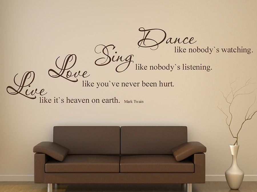 Wandtattoo Dance Sing Love Live von Wandtattoode