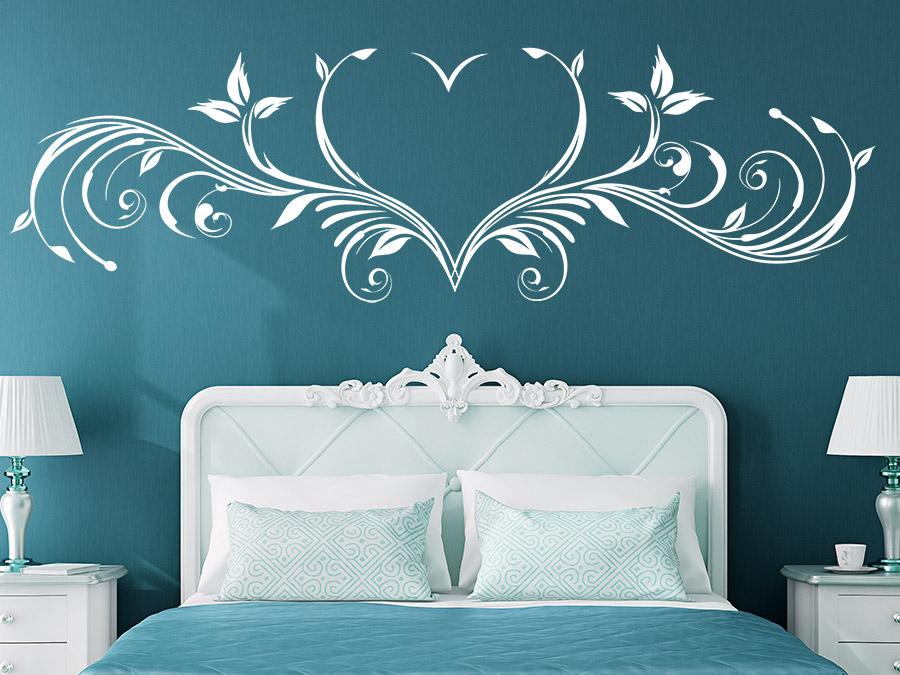 Wandtattoo Herz Ornament  romantisch  Wandtattoosde