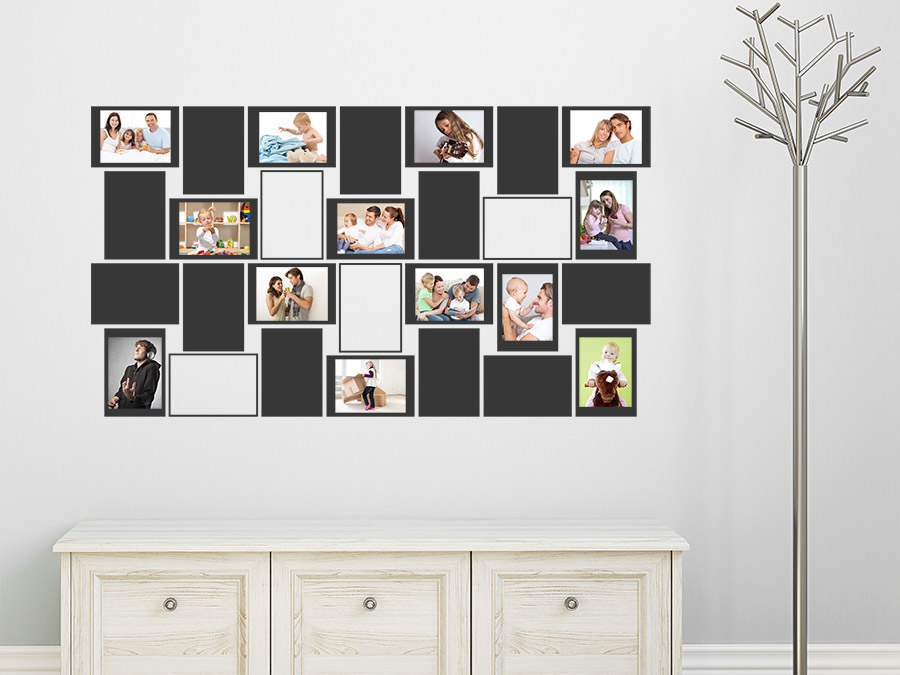 Wandtattoo Fotowand mit Fotorahmen rechteckig  WANDTATTOODE