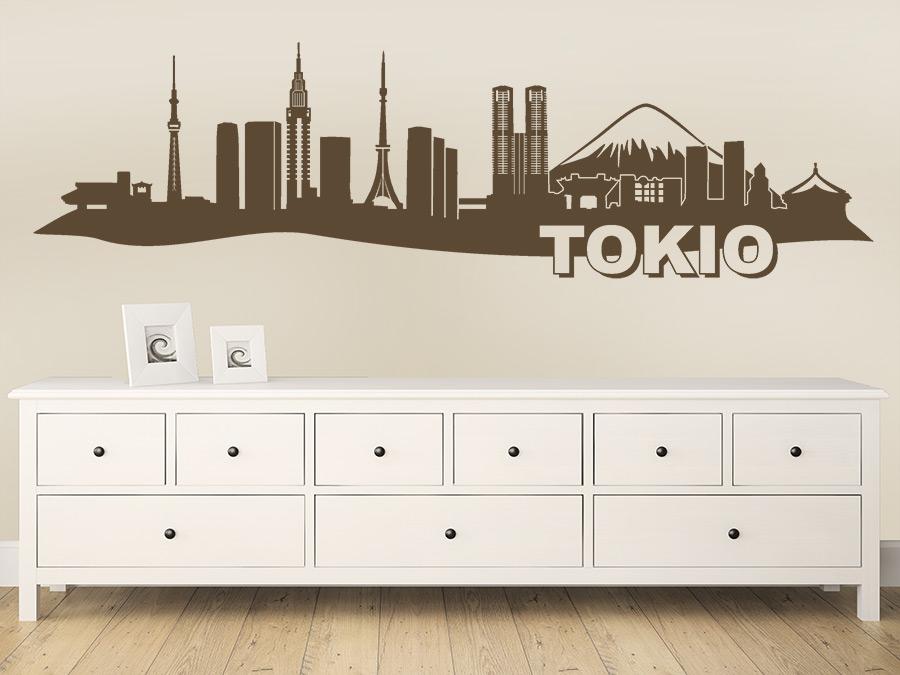 Wandtattoo Tokio Skyline  WANDTATTOODE