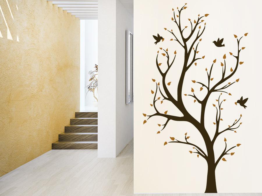 Wandtattoo im Treppenhaus  Auf Treppe Wand  Co