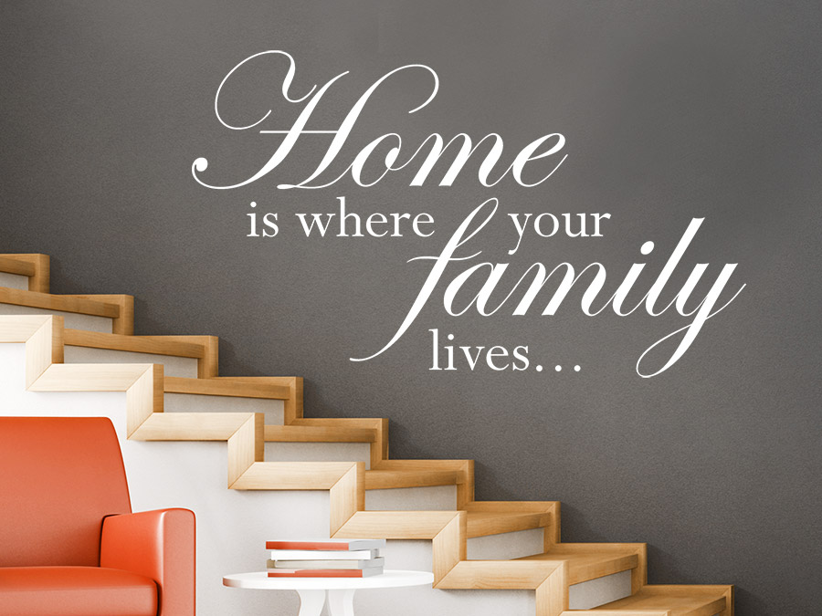 Wandtattoo Home is where your family lives  WANDTATTOODE
