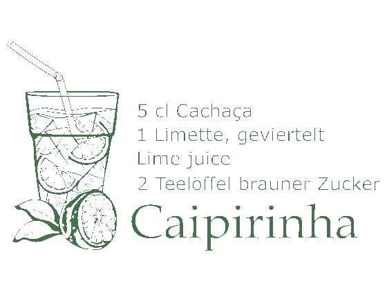 Wandtattoo Caipirinha von Wandtattoode