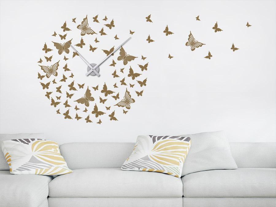 Wandtattoo Uhr Schmetterlinge Wanduhr  WANDTATTOODE