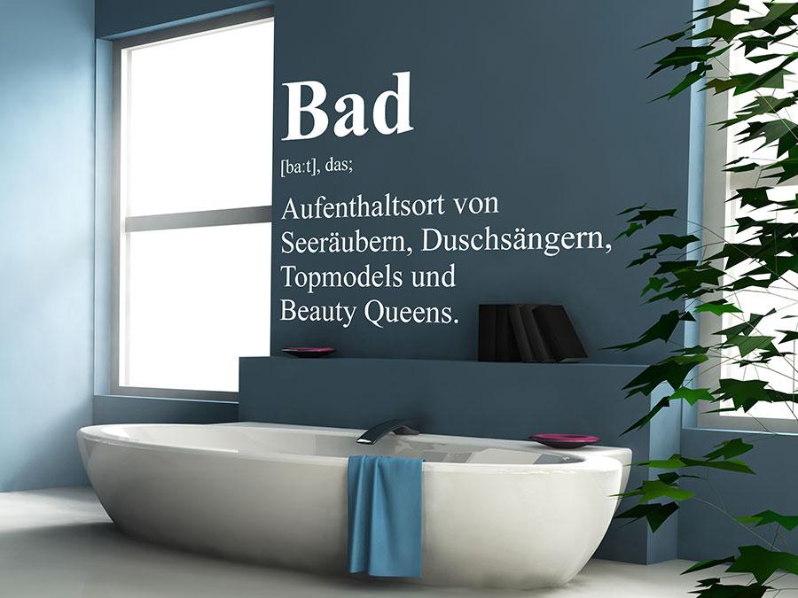 Wandtattoo Bad Definition 2  WANDTATTOODE
