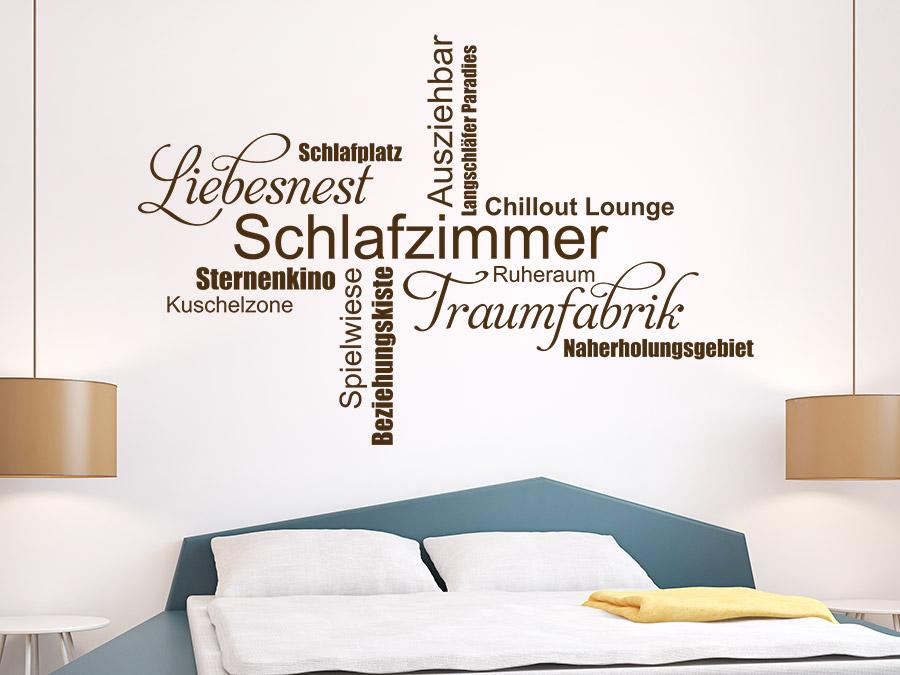 Wandtattoo Schlafzimmer Wortwolke Traumfabrik  WANDTATTOODE