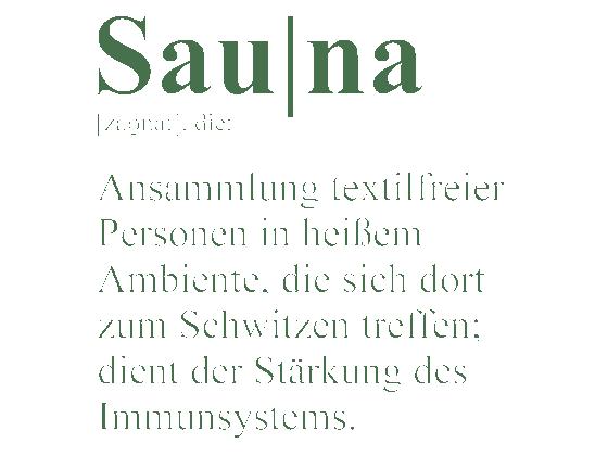 Wandtattoo Sauna Definition Wellness  WANDTATTOODE