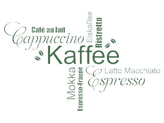 Wandtattoo Kaffee Wortwolke Schriften  WANDTATTOODE