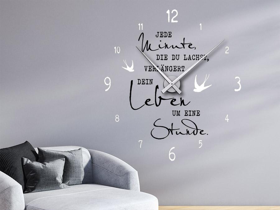 Wandtattoo Uhr Jede Minute die du lachst  WANDTATTOODE