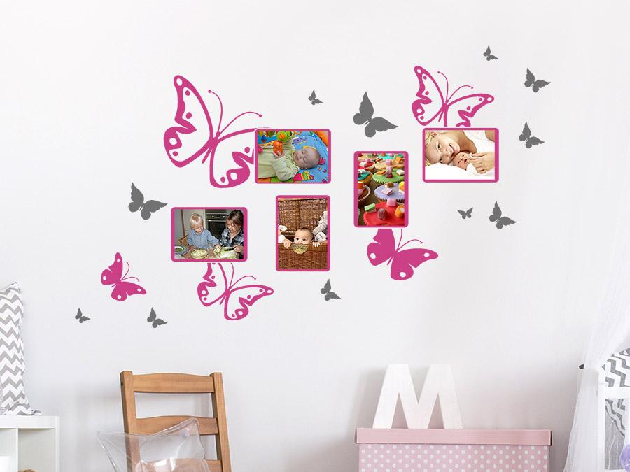 Wandtattoo Schmetterlinge mit Fotorahmen  Wandtattoosde