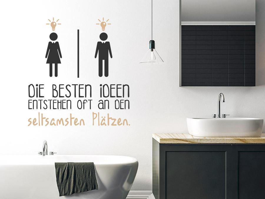 Wandtattoo Beste Ideen WC  Wandtattoosde