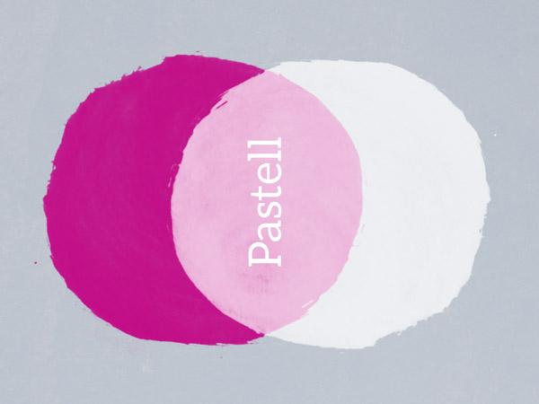 Pastellfarben  Bunt Wohnen mit Wandtattoo  Co