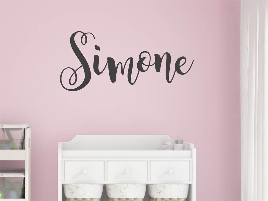 Schrift Name Simone