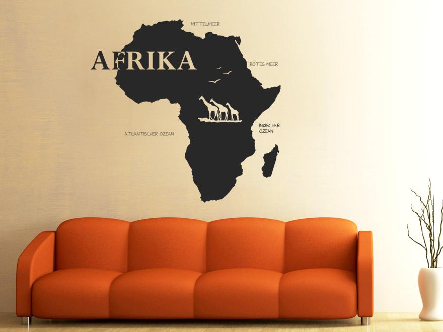 Wandtattoo Afrika von Wandtattoonet