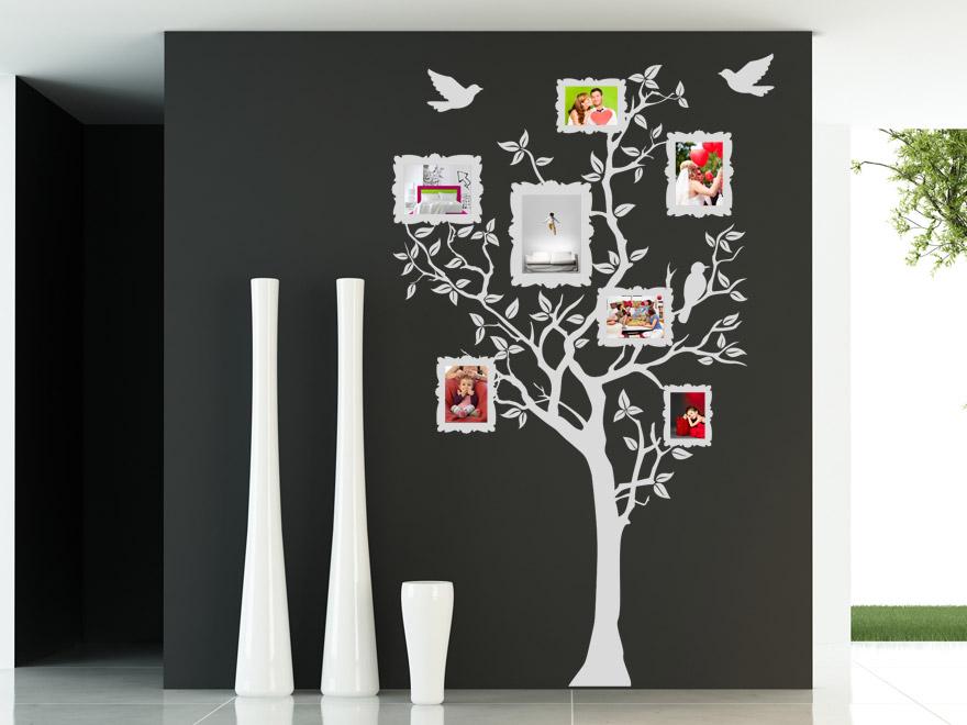 Baum mit Fotorahmen Wandtattoo Baum Fotos von Wandtattoonet