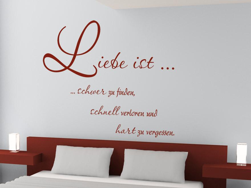 Wandtattoo Liebe ist  Wandspruch von Wandtattoonet