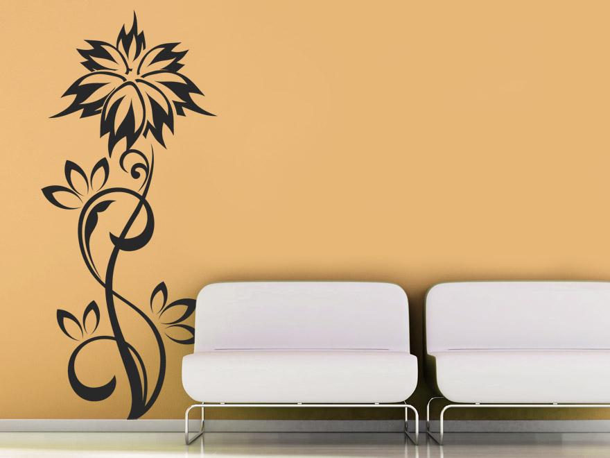 Pflanzen Wandtattoo Stilvolle Blume von Wandtattoonet