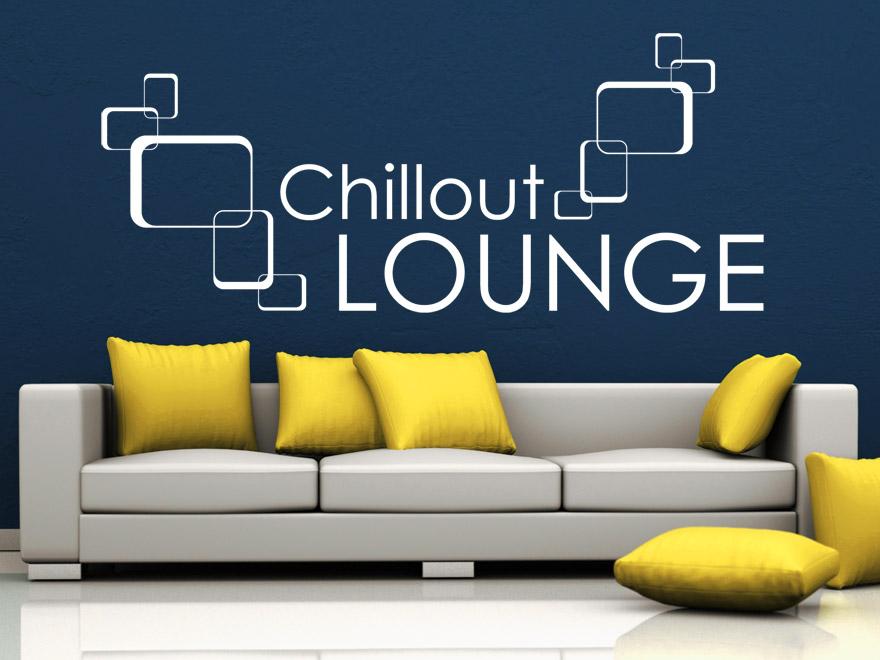 Retro Wandtattoo Chillout Lounge von Wandtattoonet