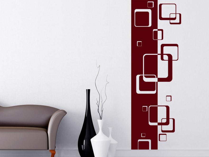 Banner Retro Quadrate Wandbanner von Wandtattoonet