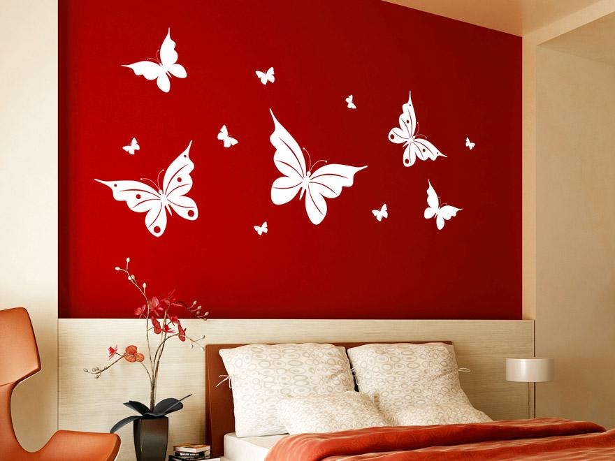 Schmetterling Wandtattoo Frhlingshafte Schmetterlinge von