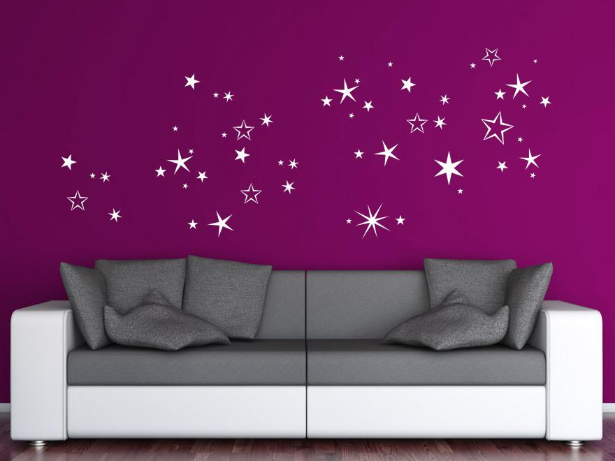 Weihnachten Wandtattoo Winterlicher Sternenhimmel von Wandtattoonet