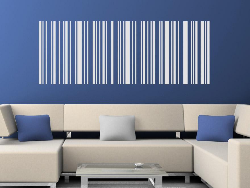 Linien Wandtattoo Motiv Barcode von Wandtattoonet