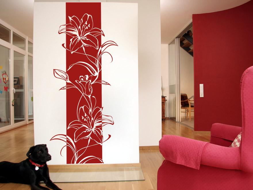 Blten Wandbanner Lilien von Wandtattoonet